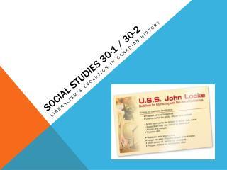 Social Studies 30-1 / 30-2