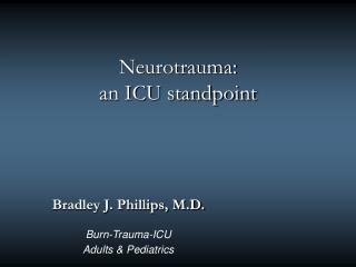Neurotrauma: an ICU standpoint