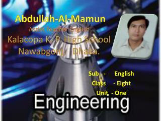 Abdullah-Al- Mamun Assist Teacher English Kalacopa  K. P. High School Nawabgonj ,   Dhaka.