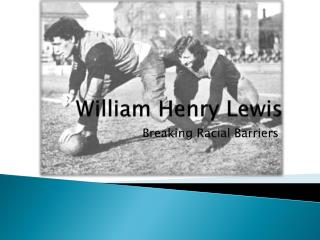 William Henry Lewis