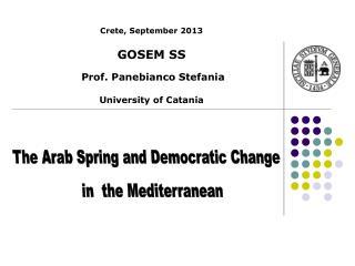 Crete,  September  2013 GOSEM SS Prof . Panebianco  Stefania University  of Catania