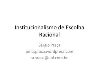 Institucionalismo de Escolha Racional