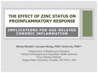 The  Effect of Zinc Status on Proinflammatory Response