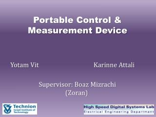 Portable Control & Measurement Device