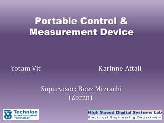 Portable Control & Measurement Device