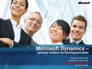 Microsoft Dynamics –  synergi mellem forretningsområder