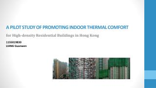 A Pilot study  Of  Promoting Indoor Thermal  Comfort