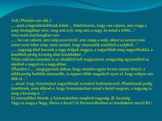 Volt  (Phaidón  100 skk.):