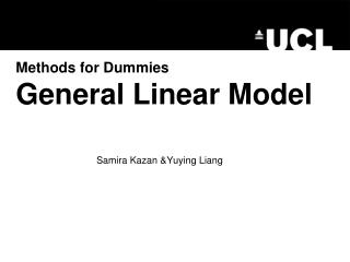 Methods for Dummies  General Linear Model