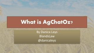 What is  AgChatOz ?