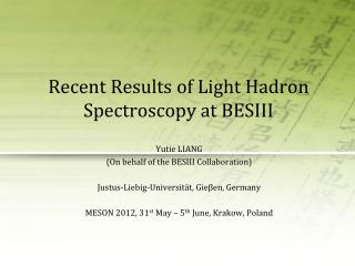 Recent Results of Light Hadron Spectroscopy at BESIII