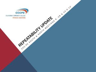 Repeatability update