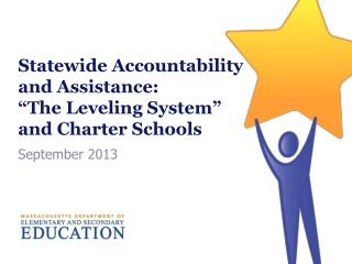 "Statewide Accountability  and Assistance:  ""The Leveling System""  and Charter Schools"