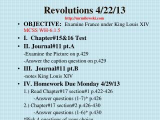 Revolutions  4/22/13 http://mrmilewski.com