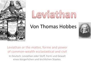 Von Thomas Hobbes