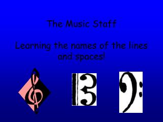 The Music Staff  Learning the names of the lines and spaces