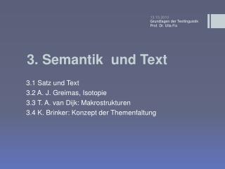 3 . Semantik  und Text