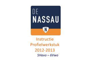 Instructie Profielwerkstuk 2012-2013