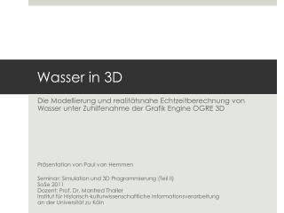 Wasser in 3D