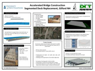 Accelerated Bridge Construction Segmented Deck Replacement, Gilford NH
