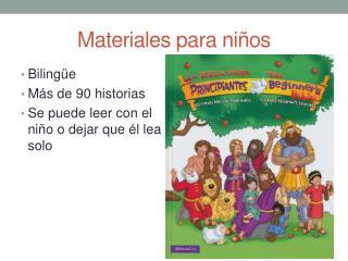 Materiales para niños
