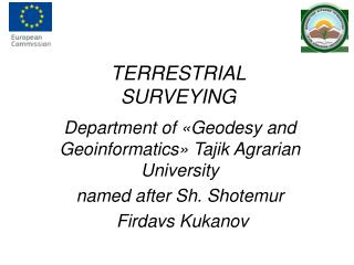 TERRESTRIAL SURVEYING