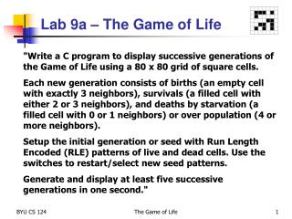Lab  9a � The Game of Life