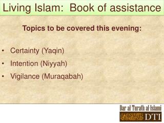 Living Islam:  Book of assistance