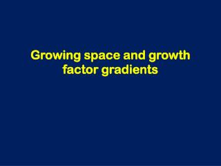 Growing space and growth factor gradients