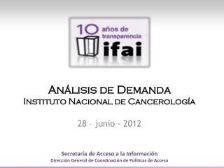 An�lisis de  Demanda Instituto Nacional de Cancerolog�a