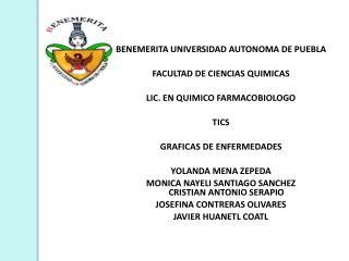 BENEMERITA UNIVERSIDAD AUTONOMA DE PUEBLA  FACULTAD DE CIENCIAS QUIMICAS