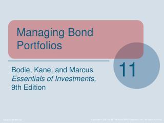 Managing Bond Portfolios