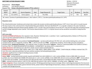MPP/TMPC  OUTSIDE REQUEST FORM  	Written :   1/25/12         			Requestor  Reviewed: