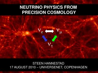 NEUTRINO PHYSICS FROM  PRECISION COSMOLOGY