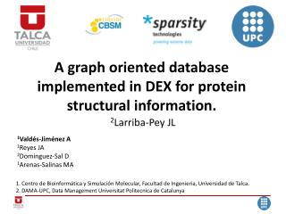 A graph oriented database implemented in DEX for protein structural information.