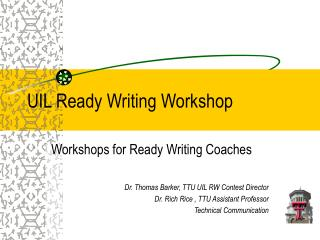UIL Ready Writing Workshop