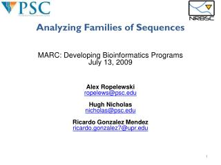 Analyzing Families of Sequences