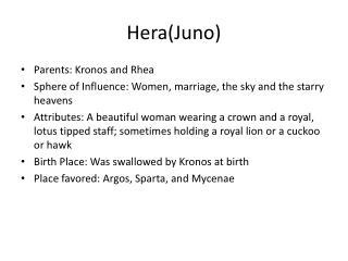 Hera(Juno)