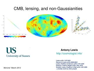 CMB, lensing, and non- Gaussianities