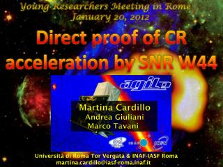 Young  Researchers  Meeting in Rome  January  20, 2012