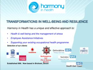 TRANSFORMATIONS IN WELL-BEING AND RESILIENCE