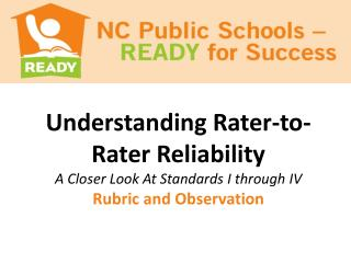 Understanding  Rater-to -Rater Reliability A Closer Look At Standards I through IV
