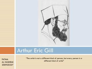 Arthur Eric Gill
