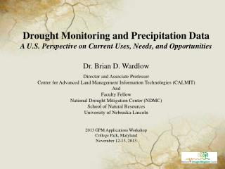 Drought Monitoring and Precipitation Data
