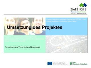 Umsetzung des Projektes