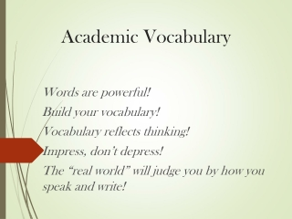 Vocabulary Practice