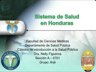 Sistema de Sal ud  en Honduras