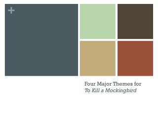 Four Major Themes for      To Kill a Mockingbird