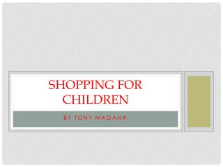 Shopping for children
