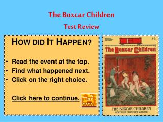 The Boxcar Children Test Review